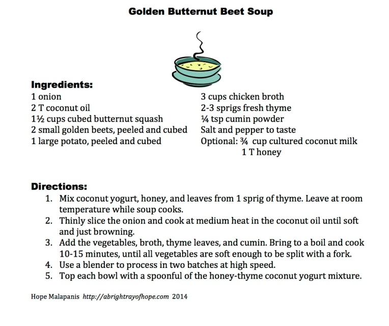 Golden Butternut Beet Soup
