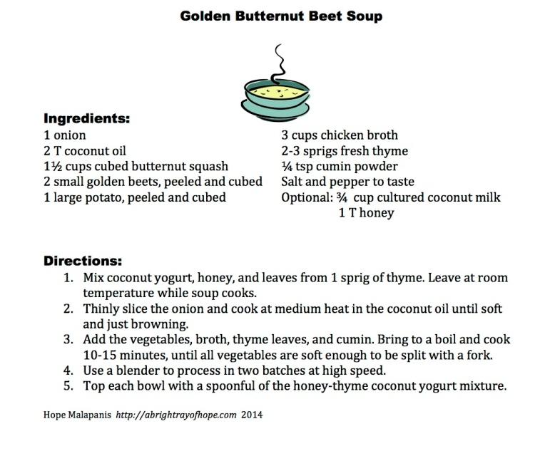 Golden Butternut Beet Soup