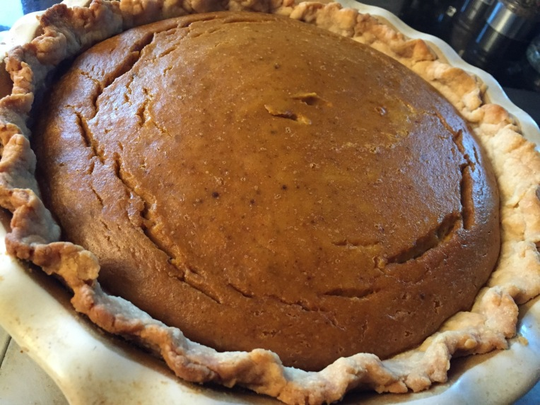This year's pumpkin pie.