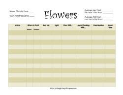 Flower Planning