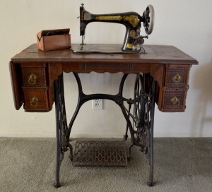 A beautiful Singer sewing machine.