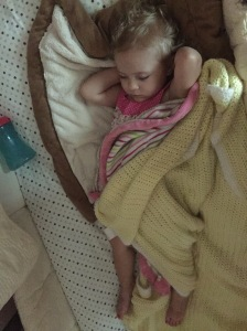 Sofia rests peacefully at nap time... all by herself!
