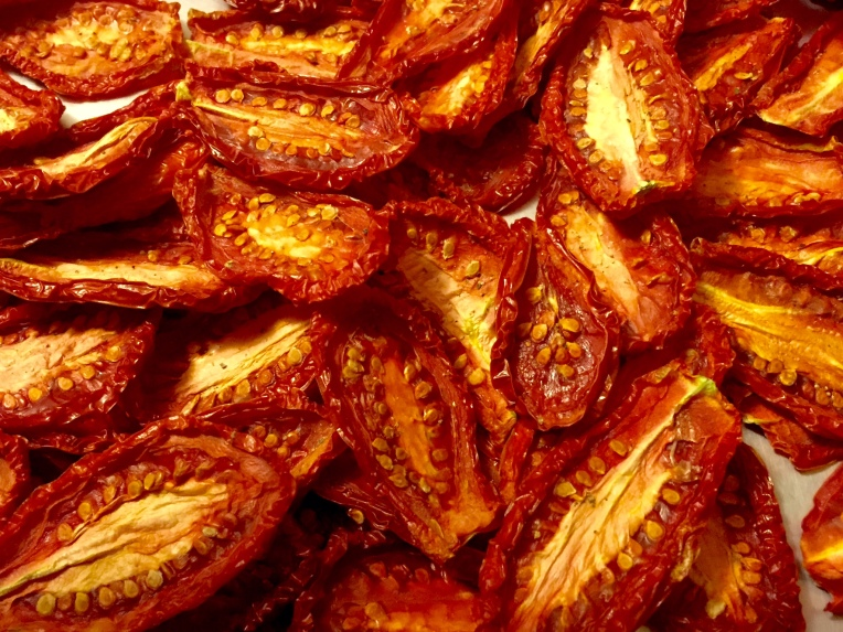 Beautiful dried tomatoes.
