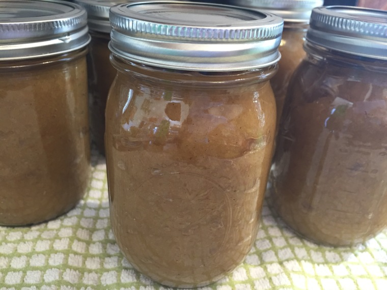 Jars of applesauce.