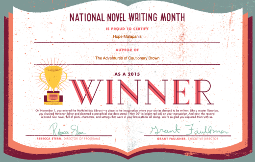 I did it! 50,000 words and counting!