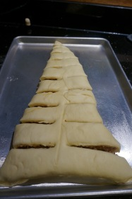 Cut into the sides.