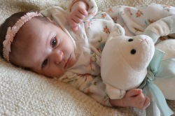 One month old, with Lambie.