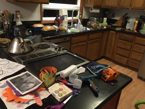 This disaster is how my kitchen frequently looks mid-project.