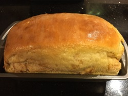 The result of not forming the loaf firmly enough. Not perfect, sorry.